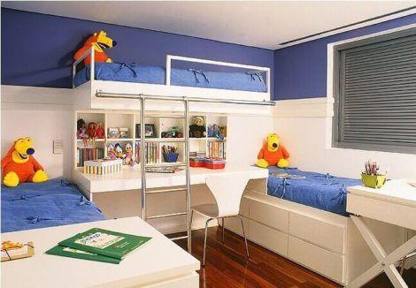 quarto para irmaos pequenos 5 470x326 - Quarto para IRMÃOS PEQUENOS estilos contemporâneos modernos