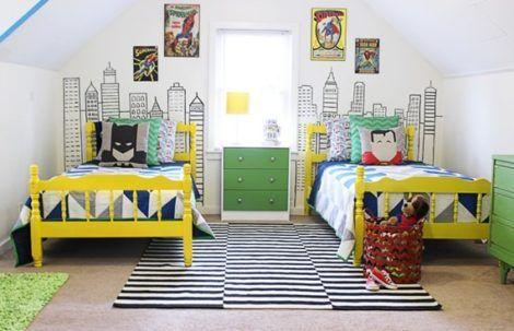 quarto para irmaos pequenos 8 470x303 - Quarto para IRMÃOS PEQUENOS estilos contemporâneos modernos
