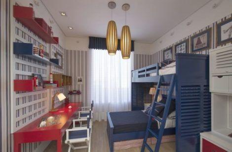 quarto para irmaos pequenos 9 470x309 - Quarto para IRMÃOS PEQUENOS estilos contemporâneos modernos