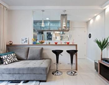 sala de apartamento pequeno decorado 350x274 - Sala decorada de apartamento veja como ter um ambiente agradável