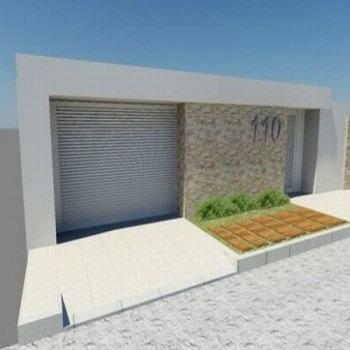 fachada residencial simples