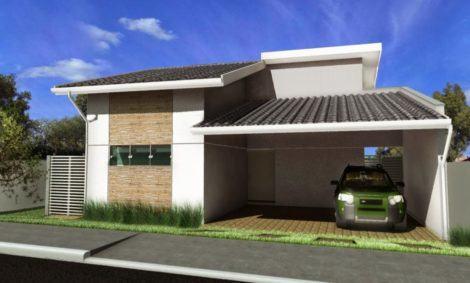 fachadas de casas com garagem simples 470x283 - Ideias para Fachada residencial simples em 30 fotos