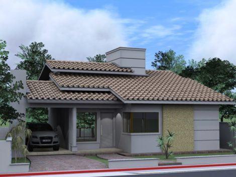 fachadas externas casa 470x352 - Ideias para Fachada residencial simples em 30 fotos