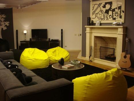 puff decorativo amarelo - Modelos de Puff decorativo para sala de estar coloridos e charmosos