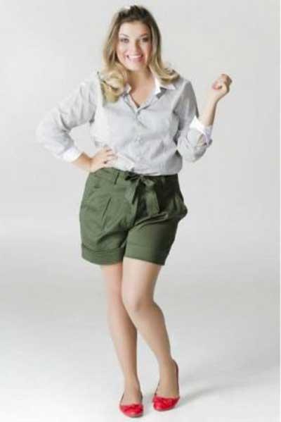 shorts de alfaiataria plus size 5 - Short de alfaiataria PLUS SIZE modelos com tamanhos especiais