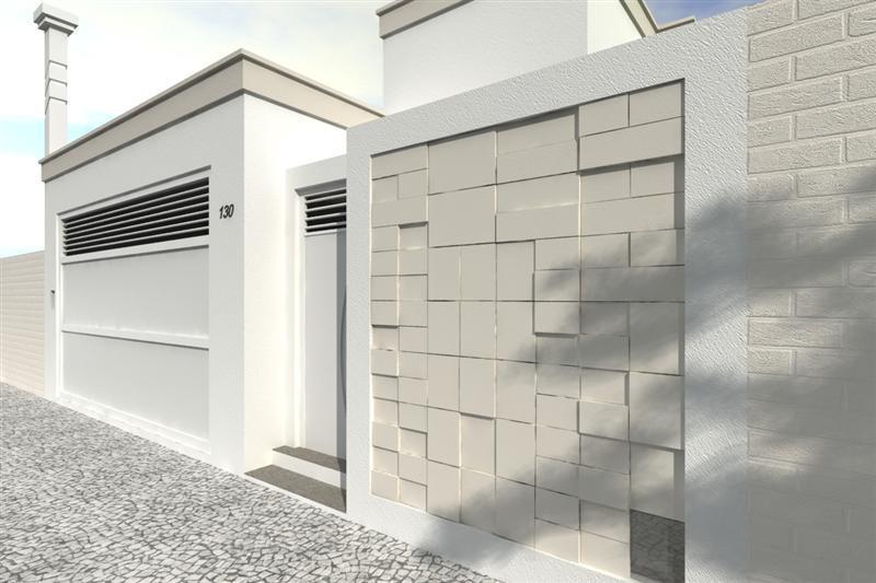 Ideias para fachada residencial simples em 30 fotos moda for Modelos de frentes para casas