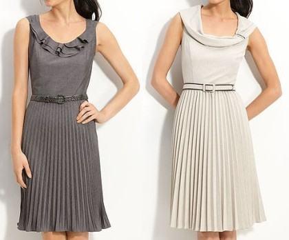 vestidos curtos plissados