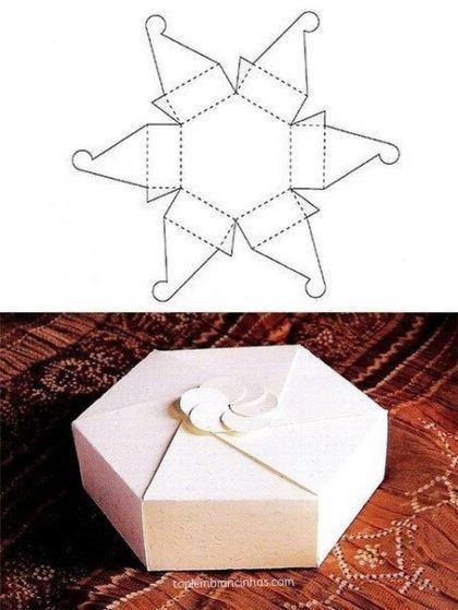 dicas de moldes para fazer caixinhas de lembrancinhas 420x559 - Moldes para fazer caixinhas de lembrancinhas faça você