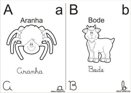 letras do alfabeto para colorir A e B 420x297 - Letras do alfabeto para colorir para aprender brincando