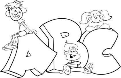 letras do alfabeto para colorir ABC 420x272 - Letras do alfabeto para colorir para aprender brincando