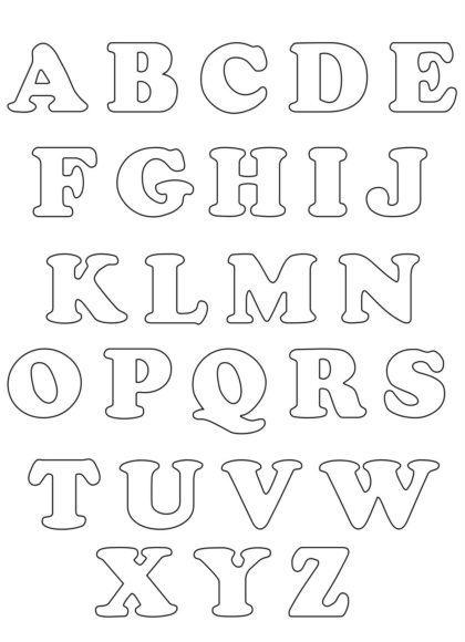 letras do alfabeto para colorir arredondadas 420x580 - Letras do alfabeto para colorir para aprender brincando