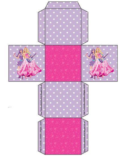 moldes para fazer caixinhas de lembrancinhas da Barbie 420x548 - Moldes para fazer caixinhas de lembrancinhas faça você