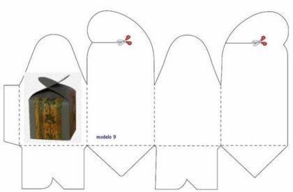 moldes para fazer caixinhas de lembrancinhas quadrada com borboleta 420x276 - Moldes para fazer caixinhas de lembrancinhas faça você