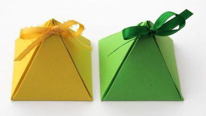 moldes para fazer caixinhas de lembrancinhas triangulares 420x237 - Moldes para fazer caixinhas de lembrancinhas faça você
