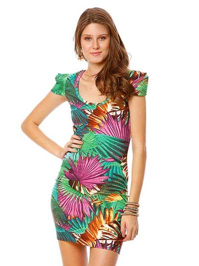 vestidos estampados de malha 7 - VESTIDOS ESTAMPADOS DE MALHA moda primavera verão