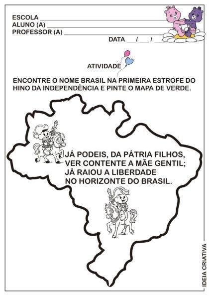 atividades escolares independencia do brasil infantis 420x594 - Atividades escolares Independência do Brasil data 7 de setembro