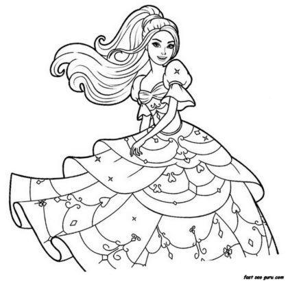 desenhos para colorir da barbie e o portal encantado 420x409 - Desenhos para colorir da Barbie confira e imprima