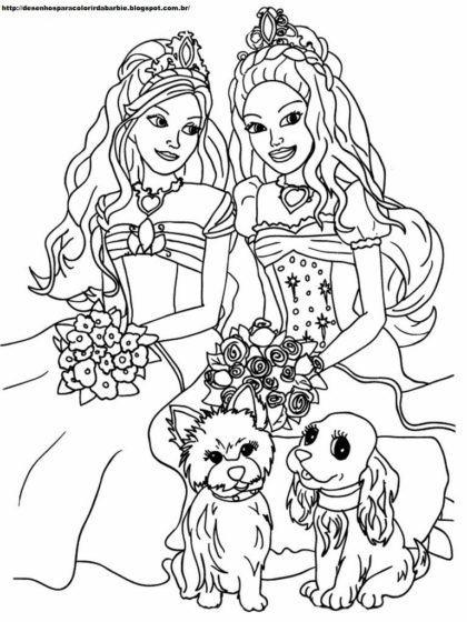 desenhos para colorir da barbie e teresa princesa 420x560 - Desenhos para colorir da Barbie confira e imprima