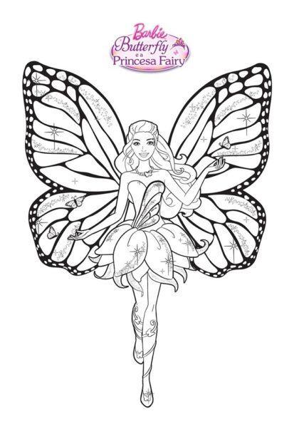 desenhos para colorir da barbie fada 420x609 - Desenhos para colorir da Barbie confira e imprima