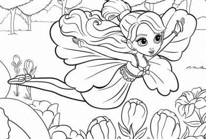 desenhos para colorir da barbie polegarzinha 420x284 - Desenhos para colorir da Barbie confira e imprima