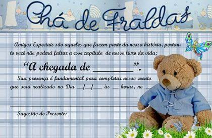 Modelos De Convites Prontos Para Chá De Fralda Editaveis Moda Decor