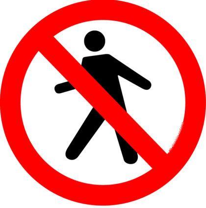 placas de transito proibido pedestres 420x424 - Placas de Transito para conhecer e imprimir