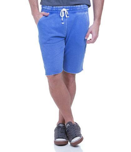 bermuda de moletom azul 420x487 - Bermudas masculinas de moletom moda verão homem