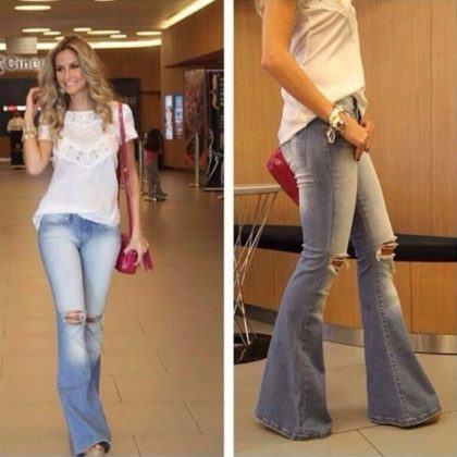 imagem 22 420x420 - CALÇAS FLARE JEANS moda feminina, como usa-las