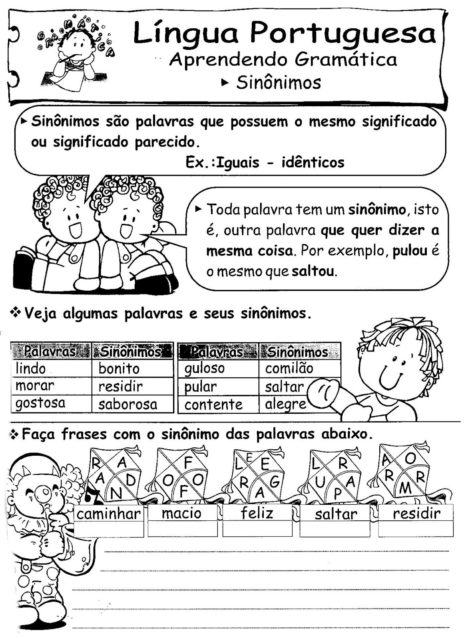 3%C2%B0 ANO ATIVIDADES GRAMATICA 885 470x639 - Atividades de Português para 3 ano para imprimir