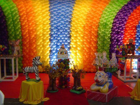 aniversario infantil com baloes 470x353 - DECORAÇÃO COM BALÕES PARA ANIVERSÁRIO infantil