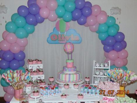 aniversario infantil com baloes de menina 470x353 - DECORAÇÃO COM BALÕES PARA ANIVERSÁRIO infantil