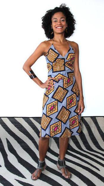 imagem 13 5 - VESTIDOS DE CAPULANA Africanos modelitos incríveis