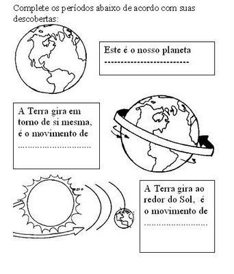 imagem 4 - GEOGRAFIA Atividades sobre o Sistema Solar para imprimir
