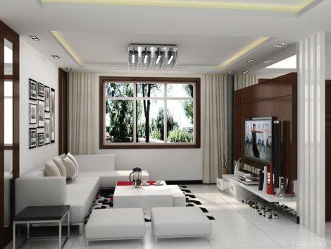 modelos de sala de estar decoradas 470x353 - DECORAÇÃO DE SALA DE ESTAR pequenas, para apartamentos, e grandes