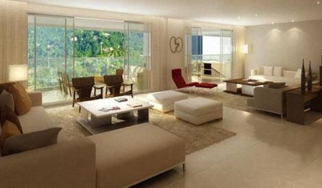 sala de estar grande dois ambientes 470x274 - DECORAÇÃO DE SALA DE ESTAR pequenas, para apartamentos, e grandes