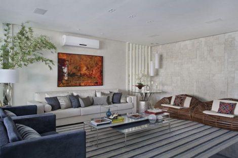salas de estar grandes decoradas 470x313 - DECORAÇÃO DE SALA DE ESTAR pequenas, para apartamentos, e grandes