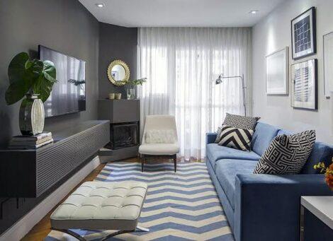 salas pequenas 470x341 - DECORAÇÃO DE SALA DE ESTAR pequenas, para apartamentos, e grandes