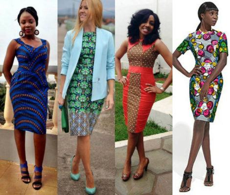 vestidos de capulana tubinho 470x400 - VESTIDOS DE CAPULANA Africanos modelitos incríveis