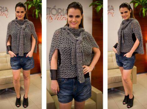 coletes de trico feminino moderno para combinar no inverno 470x349 - COLETES DE TRICÔ FEMININO moda inverno