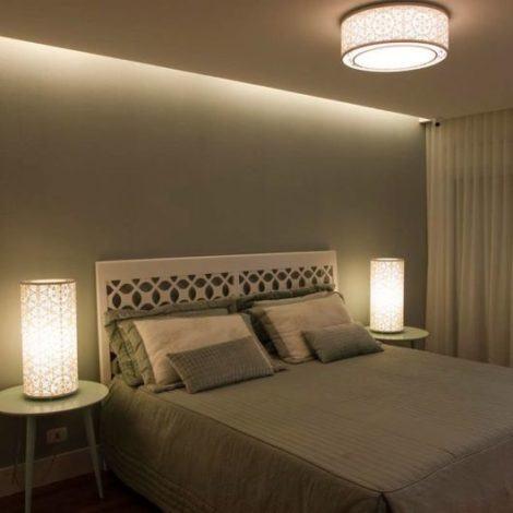 luminarias para quarto de casal 470x470 - Belas LUMINÁRIAS PARA QUARTO iluminação ideal