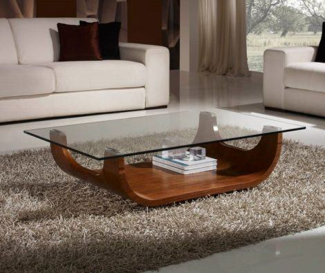 mesas de centro para sala de estar em madeira e vidro 470x395 - Belas MESAS DE CENTRO PARA SALA DE ESTAR decorativas