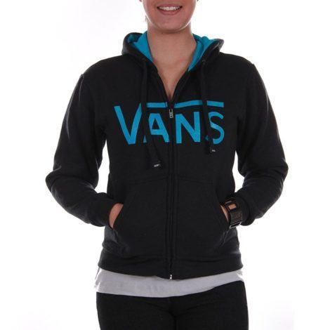 moleton feminino vans preto com ziper 470x470 - MOLETOM FEMININO VANS moda jovem outono inverno
