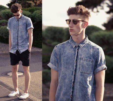 bermuda jeans preta masculina 3 470x419 - Bermuda Jeans Masculina Como Usar, Modelos e cores