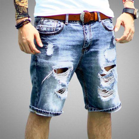 bermuda jeans rasgada 2 470x470 - Bermuda Jeans Masculina Como Usar, Modelos e cores
