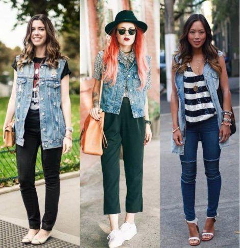 colete jeans com calca 1 470x485 - Colete Jeans Feminino Confira como Combinar com Tudo