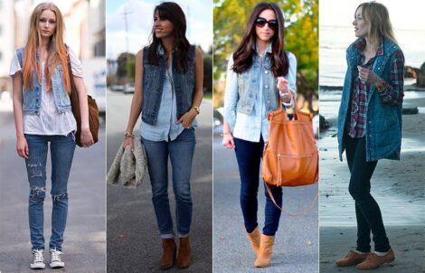 colete jeans com calca 2 470x302 - Colete Jeans Feminino Confira como Combinar com Tudo