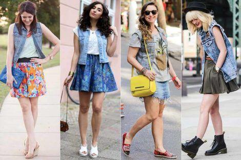 colete jeans com saia 2 470x313 - Colete Jeans Feminino Confira como Combinar com Tudo
