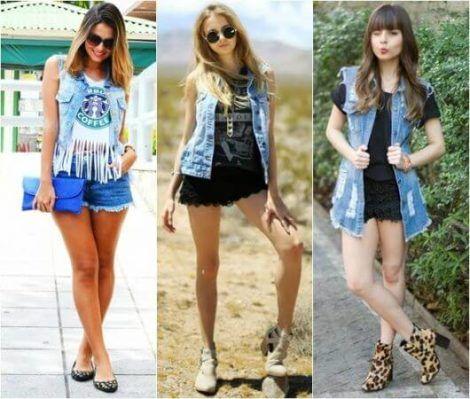 colete jeans com short 1 470x399 - Colete Jeans Feminino Confira como Combinar com Tudo