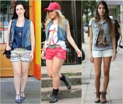 colete jeans com short 3 470x399 - Colete Jeans Feminino Confira como Combinar com Tudo