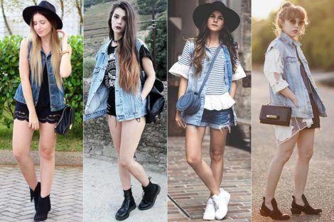 colete jeans com short 4 470x313 - Colete Jeans Feminino Confira como Combinar com Tudo